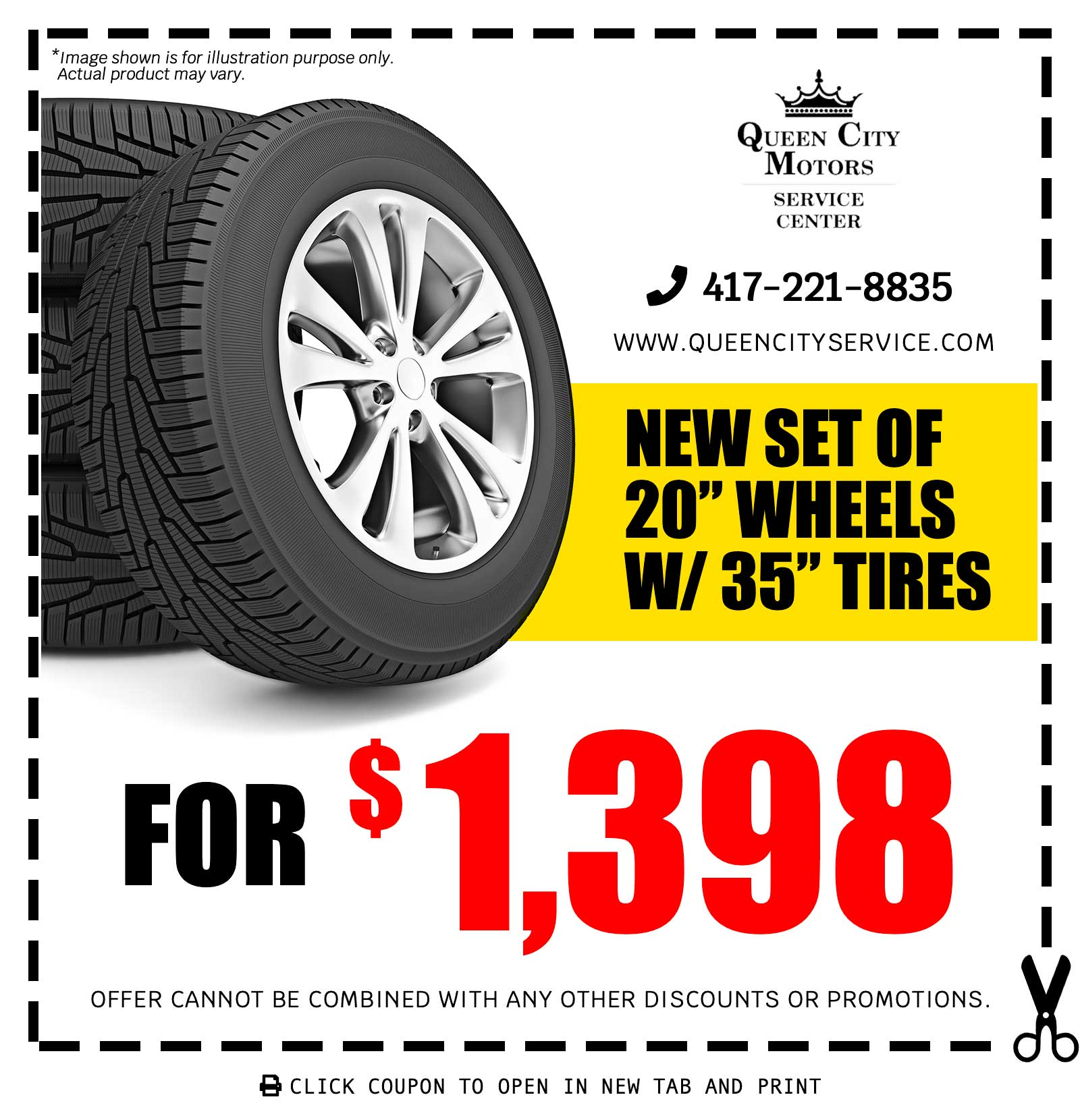 Wheels with Tires Coupon